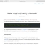 Chromeに実装される新機能『loading属性』について解説、ついにブラウザがネイティブで遅延ロードをサポート