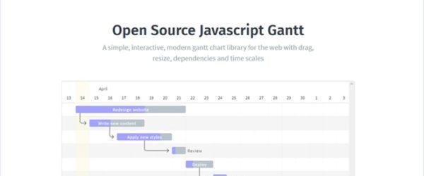 JavaScript製のオープンソースなガントチャートライブラリ・「Frappe Gantt」