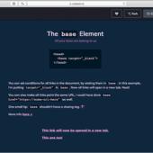 """これ知ってた? base要素にtarget=""""_blank""""を加えると、ページ内のすべてのリンクに適用できる"""