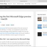 【速報】Chromiumを採用した、mac OS版のMicrosoft Edge(プレビュー版)がリリースされました!