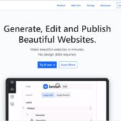 最初の簡単なヒアリングを元に、ある程度アプリの方で作り込み、そのあとで編集、公開まで出来るオンラインWebサイトビルダー・「Landen」