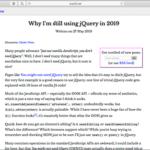 2019年になってもまだjQueryを使用している理由