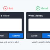 ボタンのラベルには分かりやすい文言が重要、ユーザーが使いやすい文言の選び方