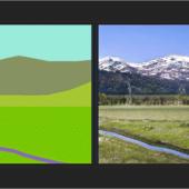簡単に描いた落書きから写真のようにリアルな画像を自動生成するツール -GauGAN