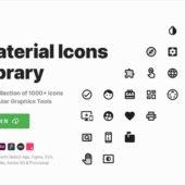 1000以上ものシンプルなアイコンをsketchファイルやSVG、PSDやFigmaファイルなども同梱して無償配布するオープンソースのアイコンセット・「Material Icons Library」