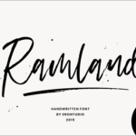 通常は有料だけど、今週末まで無料でダウンロードできる手書きスタイルの英語フォント -Ramland