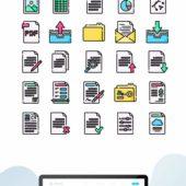 無料で使えるドキュメントフォルダやファイルの可愛らしいアイコンデザイン例(SVG・PNG共用)