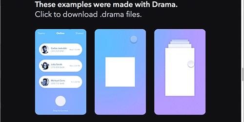 便利なのが登場!UIのデザイン、プロトタイプ、アニメーションがコードなしで、手軽に作成できるツール -Drama