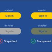UXデザイナーから学ぶ、無効状態のボタンをグレーアウトにしない理由