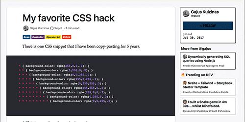 CSSで実装したレイアウトの構造や階層を簡単に確認できる、私のお気に入りのCSSハック -My favorite CSS hack