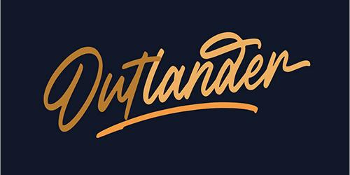 通常は有料だけど、今週末まで無料!走り書きの流れるような文字がかっこいいフォント -Outlander
