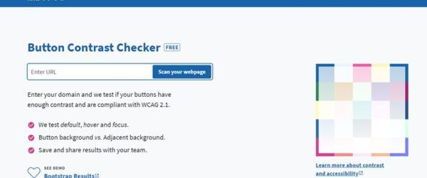 指定したWebページ内にあるリンクやボタン等のデフォルト時、ホバー時、フォーカス時のアクセシビリティチェックをしてくれる・「Button Contrast Checker」