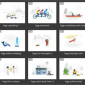 全員に有料イラスト素材をプレゼント!Webインターフェイス用のイラストで、フォーマットは.svg、商用利用OK