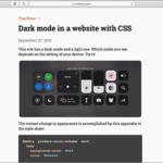 CSSのメディアクエリ「prefers-color-scheme」でダークモード対応にする方法と注意点