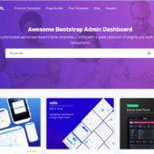 Bootstrapベースの管理画面テンプレートを探せる・「BootstrapDash」