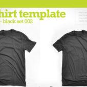 Tシャツデザインに迷ったらこれ!お手軽黒いTシャツモックアップテンプレート集