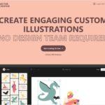 ゆるいスタイルのイラストを組み合わせてオリジナルイラストを作成、ダウンロードできる・「Vector Creator」