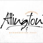 有料フォントが期間限定で無料!カジュアルでスタイリッシュな雰囲気の手書きフォント -Allington
