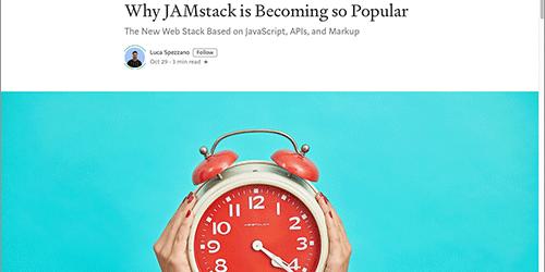 クライアントサイドに基づいたWeb開発アーキテクチャ「JAMstack」がなぜ人気になっているのか