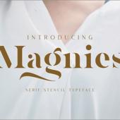 有料フォントが今だけ無料!ミニマルデザインにぴったりな美しいステンシルフォント -Magnies