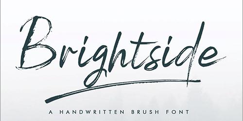 有料フォントが今だけ無料!走り書きの質感がかっこいいブラシフォント -Brightside Brush Font