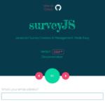 シンプルなアンケートフォームが実装できる「surveyJS」