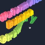 Cannon.jsとThree.jsを使った3Dテキストメニュー