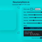 ニューモーフィズムな見栄えのCSSを生成できる「Neumorphism/Soft UI CSS shadow generator」
