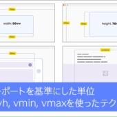 知っておくと便利!ビューポートを基準にした単位「vw, vh, vmin, vmax」を使ったCSSのテクニックのまとめ