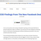 CSSは奥が深い!Facebookの新しいUIデザインで見つけたCSSのテクニックのまとめ