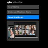 ユーザー登録不要、インストール不要、複数ユーザーですぐに使えるビデオチャット・「Spike Video Chat」