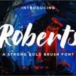 有料フォントが今週末まで無料!力強くてかっこいい、ブラシで書かれた自然な質感の手書きフォント -Roberts