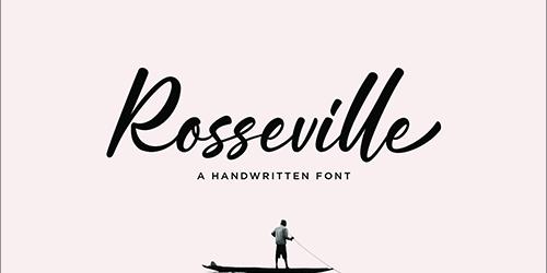 有料フォントが今週末まで無料!ブラシで書かれた躍動感のある、かわいい手書きフォント -Rosseville