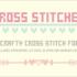有料フォントが今週末まで無料!刺繍好きにぴったり、クロスステッチのかわいいフォント -Cross Stitched