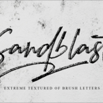 有料フォントが今週末まで無料!ロゴやポスターにぴったり、ブラシで手書きされたかっこいいフォント -Sandblast