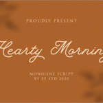 おしゃれな有料フォントが今週末まで無料!女子向けのデザインにぴったり、かわいいフォント -Hearty Morning