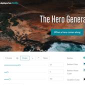 画面トップの画像にグラデーションを重ねるジェネレーター「hero-generator」