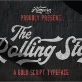 有料フォントが今週末まで無料!ロゴやポスターにぴったり、モダンで力強いスクリプトフォント -The Rollingstar