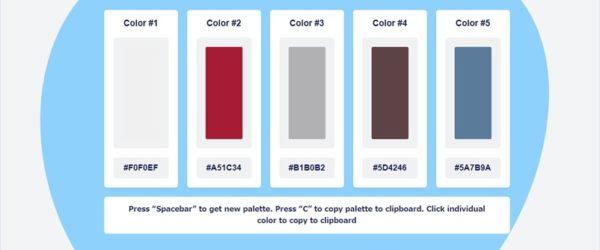 サクサク使えるシンプルなカラーパレット生成ツール・「Color Palette Generator」