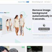 画像のメイン部分を残し、自動で背景を削除するオンラインの切り抜きツール・「Slazzer」