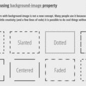 background-imageを使ったボーダーエフェクト色々