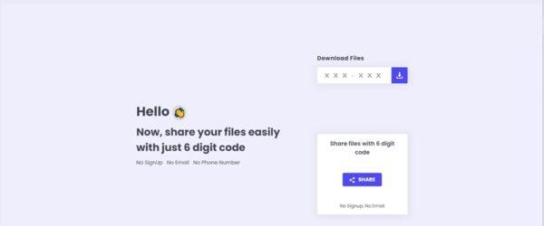 ユーザー登録やメールアドレス等も不要で任意の相手にファイルを送信できる・「SendFileOnline」