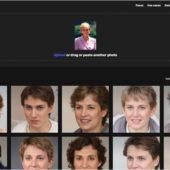 顔写真をアップロードすると、AIで生成された架空の顔写真から似た顔の画像を返してくれる・「Anonymizer」