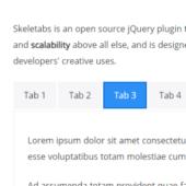 シンプルなタブUIを実現できる「Skeletabs」