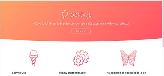 UIでボタンをクリックするのが楽しくなるエフェクトがたくさん揃ったJavaScriptライブラリ -Party.js