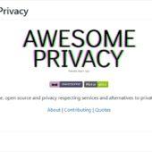様々なサービスの代替となるOSSでプライバシーを尊重した設計のものだけを厳選したリスト・「Awesome Privacy」