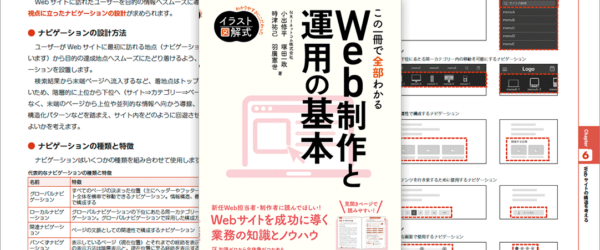 Webサイトのプロジェクトの進め方、ディレクション、デザイン、実装など、制作と運用に必要な知識が学べる良書