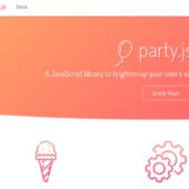 クリック時にパーティ風エフェクトを作る「party.js」