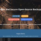 高速でセキュアなオープンソースのデータバックアップシステム・「Kopia」