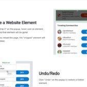Webページから任意の要素を継続的に非表示に出来るChrome拡張・「Snip」